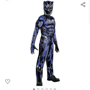 Boys, black panther muscle costume